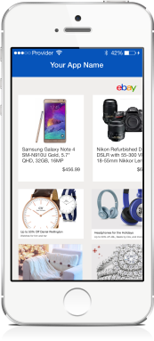 Image of an iPhone showing eBay Items