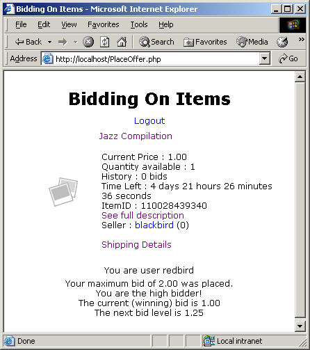 Getting Started With A Php Bidding Buying Application